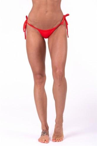 Scrunch butt fűzős bikini alsó rész 673 - Piros