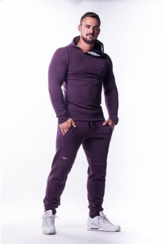 AW Asymetrical kapucnis pulóver 721 - Burgundi