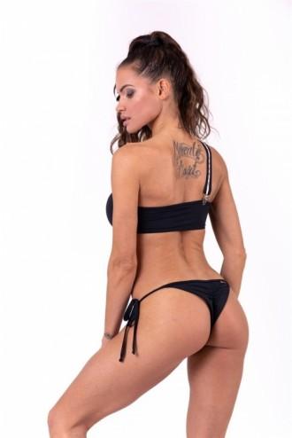 Bikini top bandeau lekapcsolható pántokkal 672 - Fekete