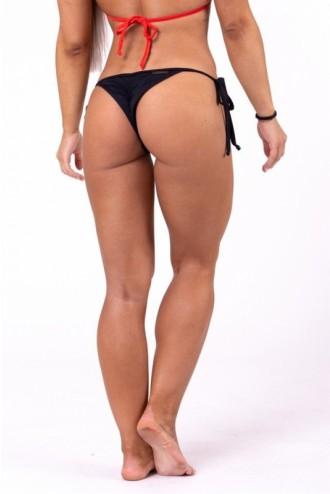 Scrunch butt fűzős bikini alsó rész 673 - Fekete