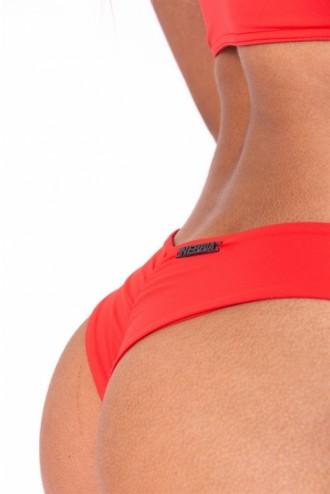 Brasil scrunch butt bikini alsó 632 - Piros