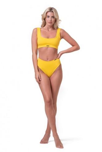 Bikini alsó High Waist Retro 555 - Sárga