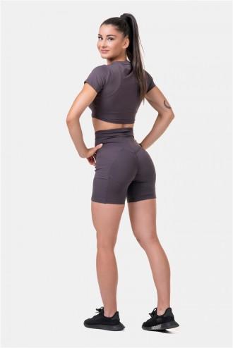 Női bicikli rövidnadrág Fit & Smart 575 - Marron