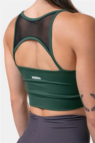 Női sportmeltartó Classic HERO 579 - Dark Green