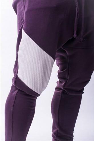 Nadrág AW Drop Crotch  729 - Burgundy