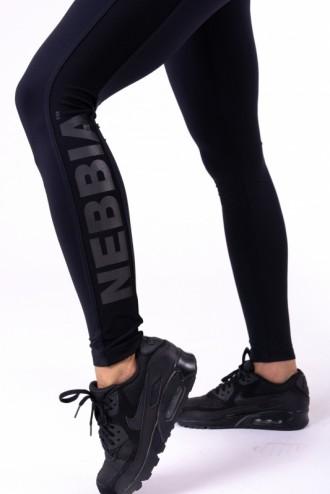 Leggings Flash-Mesh 663 - Fekete