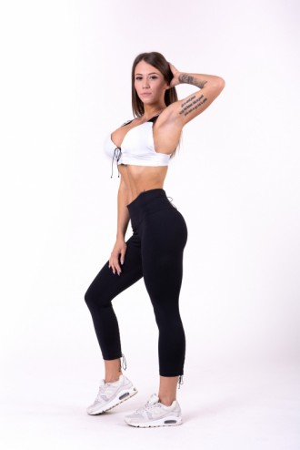 Leggings Lace up 7/8 661 - Fekete