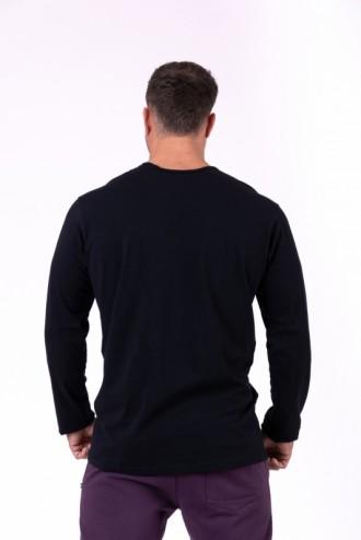 Hosszú ujjú póló More than basic 147 - Fekete