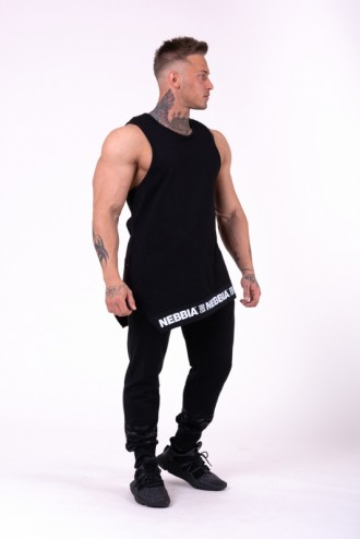 Ujjatlan póló Be rebel 141 - Fekete