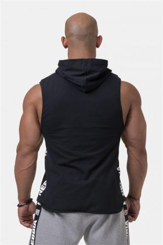 Ujjatlan póló kapucnival Legend Approved 191 - Fekete