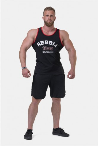 Ujjatlan póló Old School Muscle 193 - Fekete
