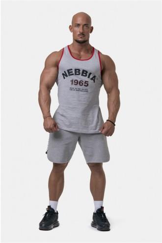 Ujjatlan póló Old School Muscle 193 - Szürke